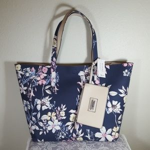NWT! Spring Floral Tote with Wallet
